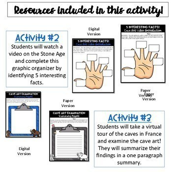 Early Human Timeline, Stone Age Activity AND Lucy WebQuest Bundle