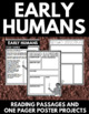 Early Humans Unit with Questions, Information, and Project