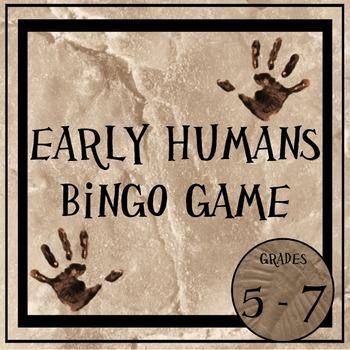 Early Humans Bingo Game