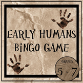 Early Humans Bingo Game
