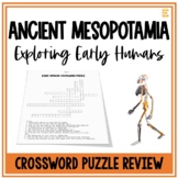 FREE Ancient Mesopotamia: Early Humans Crossword Puzzle