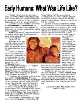 Early Humans DBQ