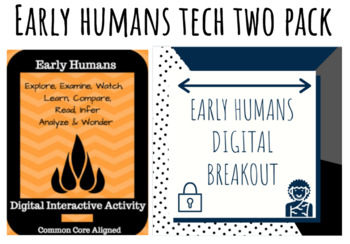 Early Humans Digital Breakout and Hyperdoc Two Pack