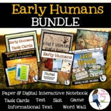 Early Humans Interactive Notebook, Game, Reader's Theater