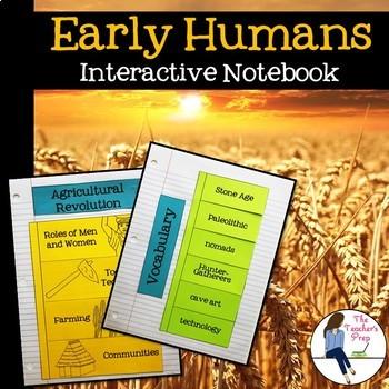 Early Humans Interactive Notebook {Paleolithic Era - Neoli