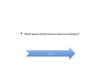 Early Humans Jeopardy Game