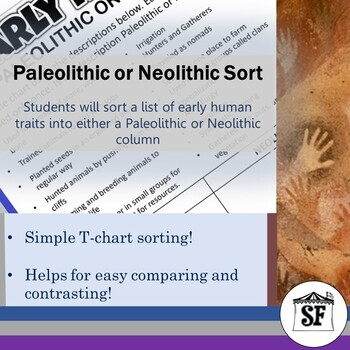 Early Humans-Paleolithic or Neolithic?-T-Chart