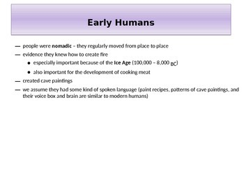 Early Humans PowerPoint