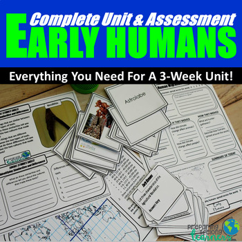 Early Humans Complete Unit & Assessment