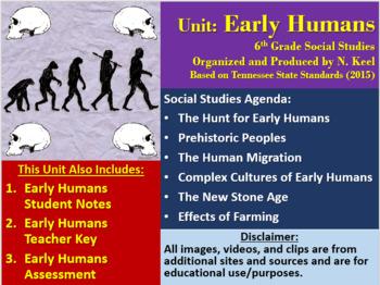 Early Humans Unit Bundle - 6th Grade Social Studies