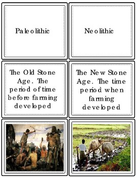 Early Humans Vocabulary Task Cards