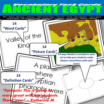 Ancient Egypt Vocabulary Task Cards