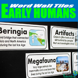 Early Humans Vocabulary Word Wall Tiles