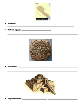 Early Humans ad Mesopotamia Interactive Notebook