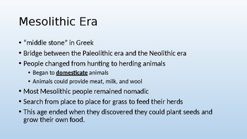 Early Humans and Ancient Mesopotamian Chapter PowerPoint