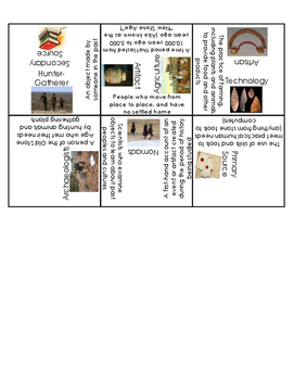 Early Humans and Archaeology Vocabulary Puzzle