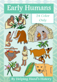 Early Humans and Stone Age Clip Art, 24 Images (Color Only)