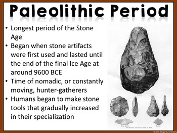 Early Humans and the Stone Age PowerPoint (100% Editable)