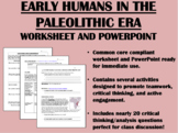 Early Humans in the Paleolithic Era Bundle - Global/World History Common Core