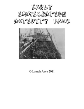 Early Immigration Activity Pack