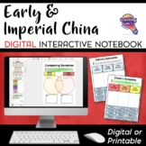 Early & Imperial China DIGITAL Interactive Notebook Unit World History Mongols