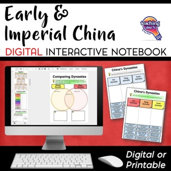 Ancient & Imperial China DIGITAL Interactive Notebook Unit World History Mongols