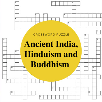 Early India Hinduism And Buddhism Crossword Puzzle Tpt