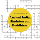 Ancient India Hinduism and Buddhism Crossword Puzzle