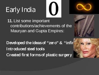 Early India Test Review Powerpoint