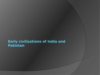Early India and China Power Point Lecture