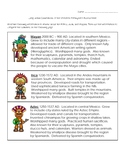 Early Indian Civilizations (Western Hemisphere) Assessment