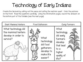 Early Indians: Mammal Hunters, Food Gatherers, Early Farmers ~ Notebook Pack