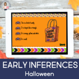 Early Inferences-Halloween (Boom Cards) (Distance Learning) (Teletherapy)