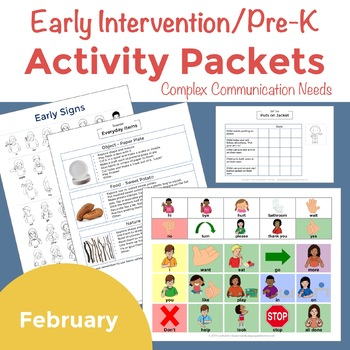Early Intervention Activity Packets February
