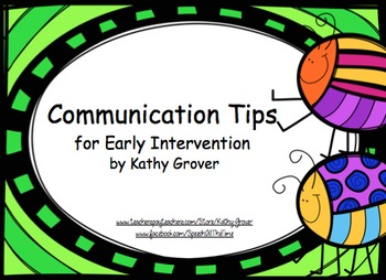 Early Intervention  Communication Tips & Strategies for Families