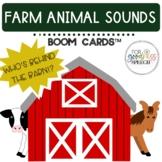 Early Intervention Farm Animal Sounds BOOM Cards™ Task Car