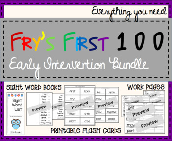 Early Intervention First 100 Sight Words 10 Unit Bundle
