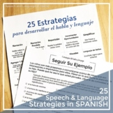 Early Intervention Parent Handouts: Speech and Language Strategies (Spanish)