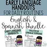 Early Language Handouts Daily Routines- English & Spanish