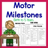 Early Intervention Motor Milestones