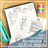 Early Intervention Parent Handouts Notebook and 50 First Words Bundle