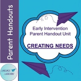 Early Intervention Parent Handout Unit: Creating Needs