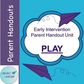 Early Intervention Parent Handout Unit: Play