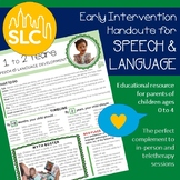 Early Intervention Parent Handout for Speech and Language