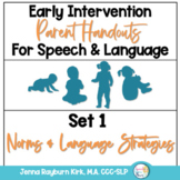Early Intervention Parent Handouts for Speech and Language Development