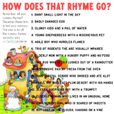 Early Intervention: Rhyme Game