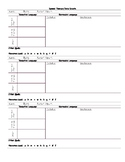 Early Intervention Speech Therapy Data Sheet (Updated)