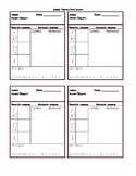Early Intervention Speech Therapy Data Sheets