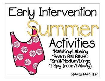 Early Intervention Summer Activities