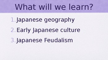 Early Japan PowerPoint Lecture